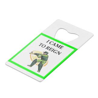 cricket wallet bottle opener