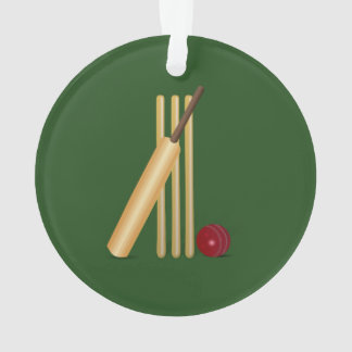 Cricket - Wicket, bat and ball Ornament