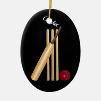 Cricket - Wicket, Bat and Ball Christmas Ornament