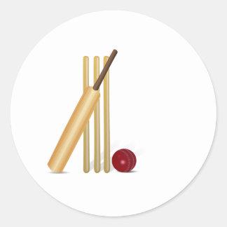 Cricket Wicket Classic Round Sticker