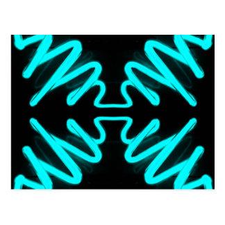 CricketDiane Art & Design Neon Turquoise Postcard