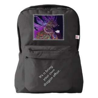 CricketDiane Art Smiling Dragon Bookbag Backpack