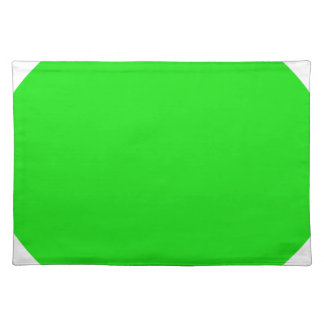 cricketdiane circle 1 neon green - 2 placemat