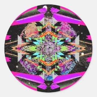 CricketDiane Extreme Designs Extreme Geometry Round Sticker