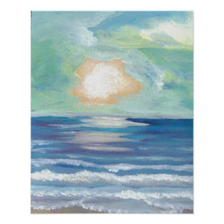 CricketDiane Ocean Poster - Beach Sunset