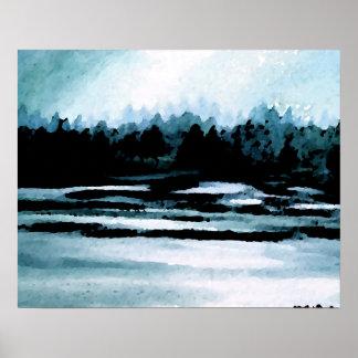 CricketDiane Ocean Poster - Lake Morning Mist