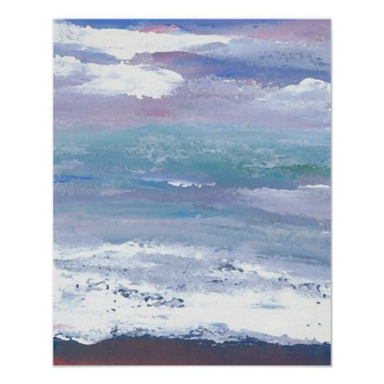 CricketDiane Ocean Poster - Sea Moonscape