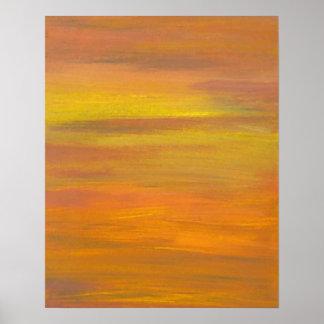 CricketDiane Ocean Poster - Sunset's Golden Colors