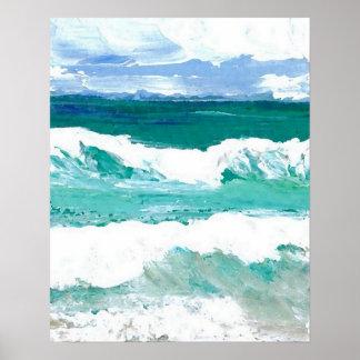 CricketDiane Ocean Poster - Waves in Action 4-2
