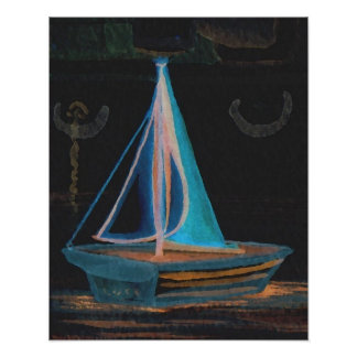 CricketDiane Sailing Poster - Boat in the Bathtub