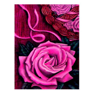 Cricket's Pink Roses Post Card