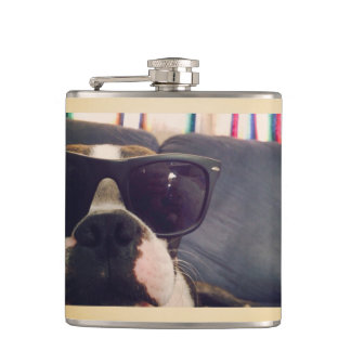 Crickett the Boston Terrier flask