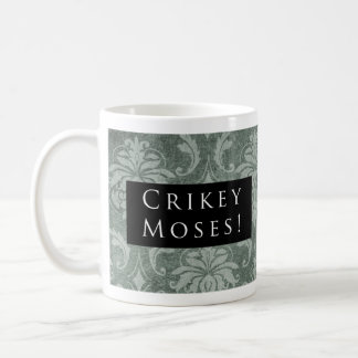 Crikey Moses! Pattern Black Coffee Mug