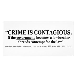 Crime is Contagious Olmstead v United States Photo Card