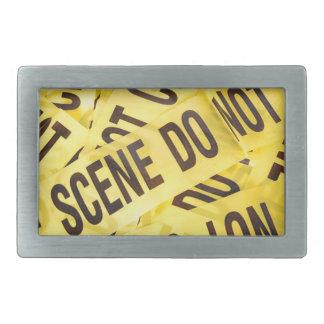 Crime scene belt buckle