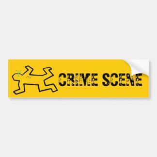 Crime Scene Bumper Sticker