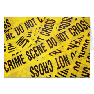 Crime scene card