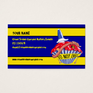 Crime Scene Cupcake Business Card