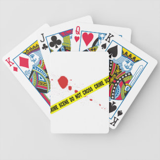 Crime Scene Do Not Cross Bicycle Playing Cards
