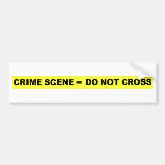 Crime Scene - Do Not Cross Bumper Sticker