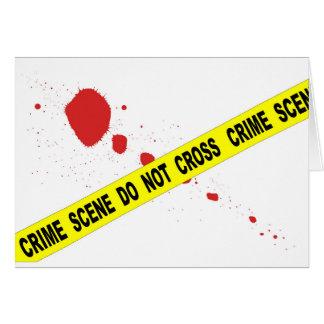 Crime Scene Do Not Cross Card