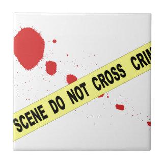 Crime Scene Do Not Cross Ceramic Tiles