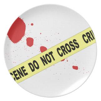 Crime Scene Do Not Cross Plate