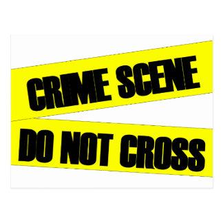Crime Scene Do Not Cross Postcard
