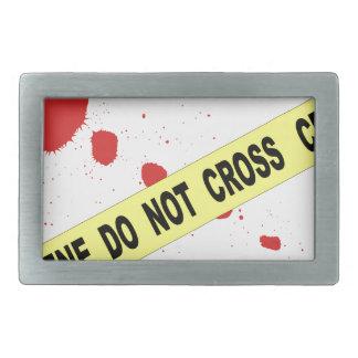 Crime Scene Do Not Cross Rectangular Belt Buckle