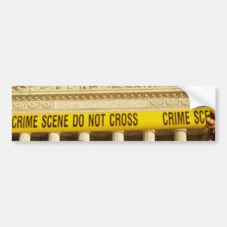 Crime Scene Do Not Cross U.S. Supreme Court Bumper Sticker