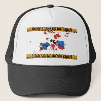 Crime Scene Do Not Cross Unturned Merchandise Trucker Hat