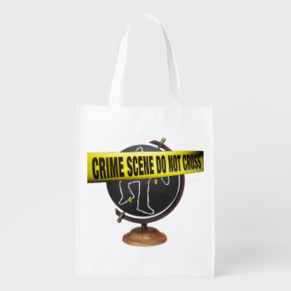 """""""Crime Scene"""" Eco-Art Re-usable Grocery Bag"""