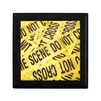 Crime scene gift box