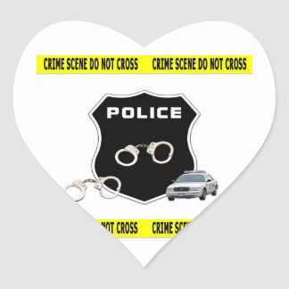 Crime Scene Heart Sticker