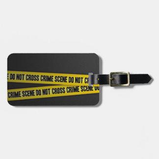 Crime Scene Luggage Tag
