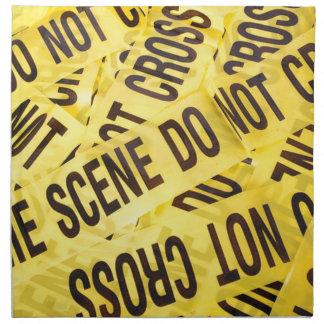Crime scene napkin