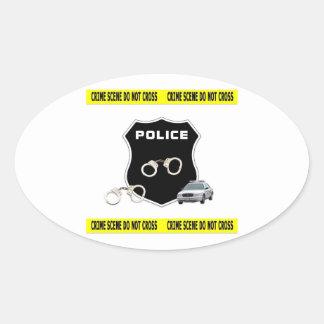 Crime Scene Oval Sticker