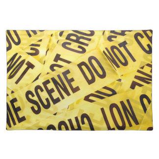 Crime scene placemat