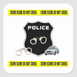 Crime Scene Square Sticker
