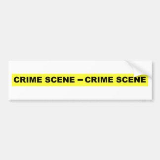 Crime Scene Tape Bumper Sticker