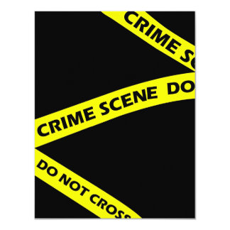 Crime Scene Tape Murder Mystery Party Invitation