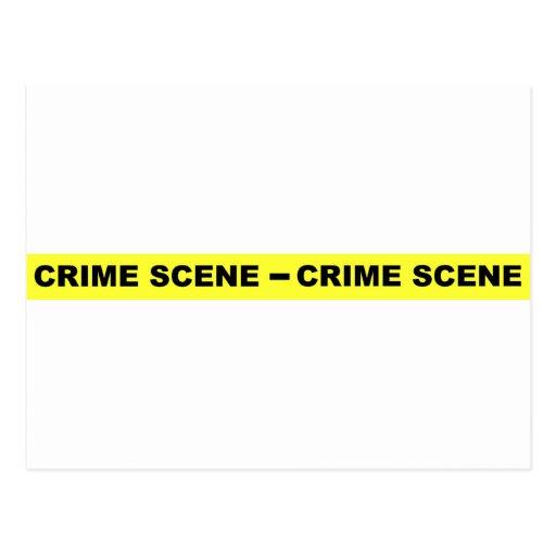 Crime Scene Tape Post Card