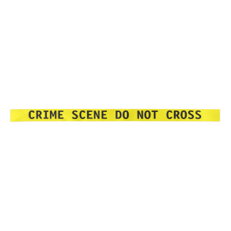 Crime Scene Tape Ribbon Satin Ribbon