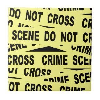 Crime Scene Tape Tile
