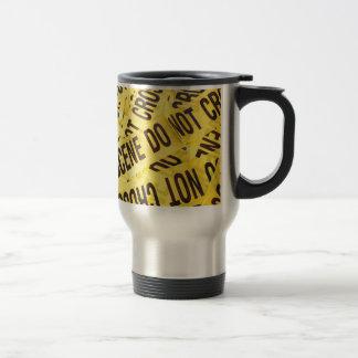 Crime scene travel mug