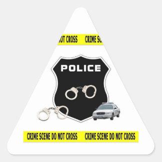 Crime Scene Triangle Sticker