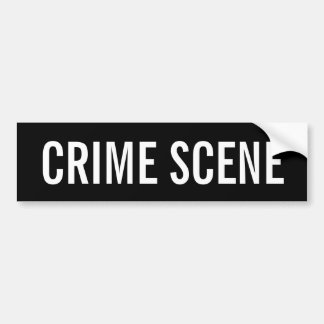 CRIME SCENE - White Logo Emblem Bumper Stickers