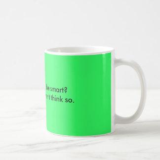 Crime to be smart? classic white coffee mug