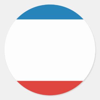 Crimea Flag Classic Round Sticker