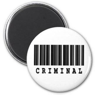 criminal barcode designl magnet